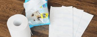 ごみ袋とトイレットペーパー・ペット用ウェットティッシュ